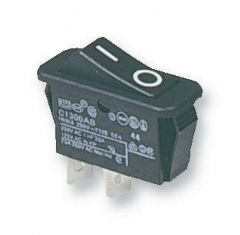ARCOLECTRIC C1300ABAAA  Switch Spst 16A 250Vac Black I/O
